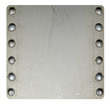 Riveted metal plate