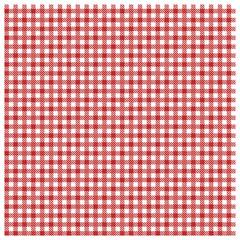 Rote karierte Tischdecke