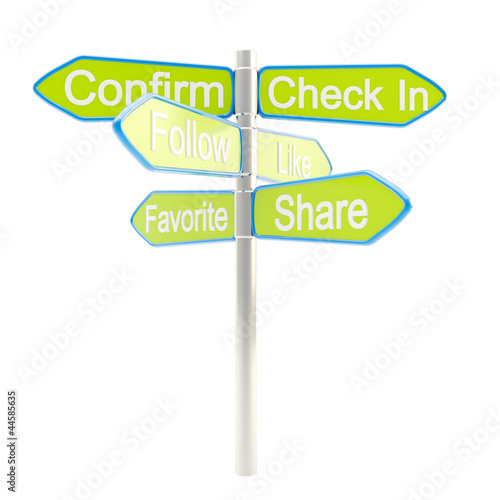 Social media are everywhere metaphore as signpost