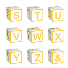 ABC: alphabet made of children playing cubes