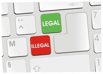 clavier légal illégal