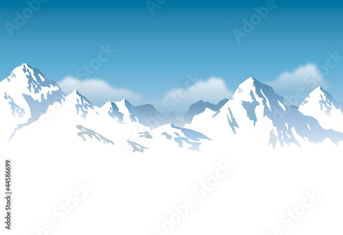 snowcapped mountains - background - 44586699