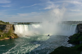 ship trying to push water foamed of niagara fall