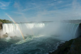 spectacular rainbow in the mist of Niagara Fall