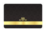 Black VIP Card with Vintage Pattern and Golden Label