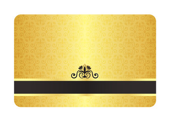Gold Card with Vintage Pattern