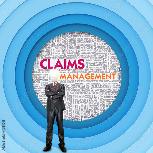 Business word cloud for business concept, Claim management