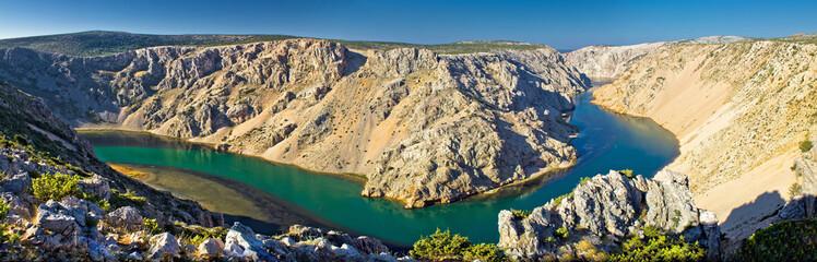 Grand canyon of Zrmanja river panoramic