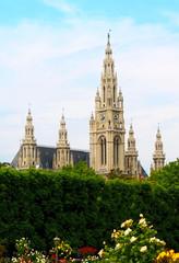 The town hall in Vienna, Austria
