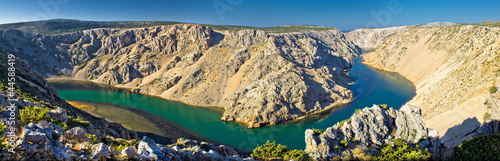 Grand canyon of Zrmanja river panoramic