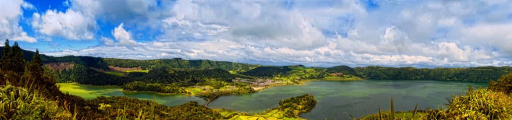 acores; sao miguel - sete cidades crater lakes