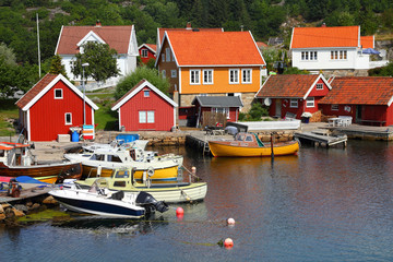 Harbor in Norway - Skjernoya Island