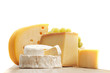 canvas print picture - cheese on a wooden table