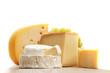 Leinwandbild Motiv cheese on a wooden table