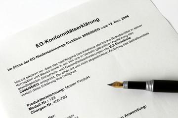 EG Konformitätsbewertung Niederspannungsrichtlinie