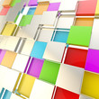 Futuristic copyspace background of cubic plates