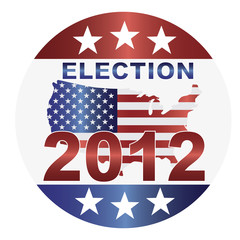 Election 2012 Button Illustration