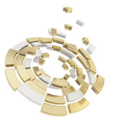 Round segmented circle composition defragmentation