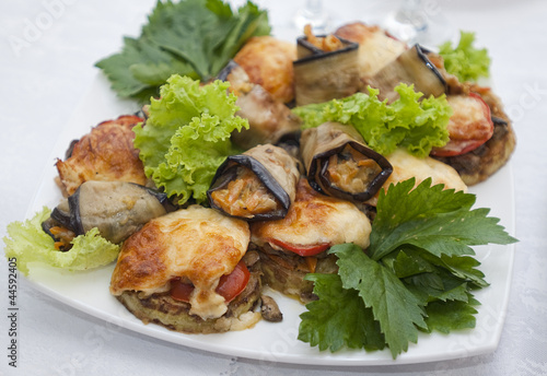 Plate with selction of stuffed vegetables