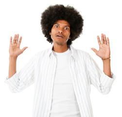 Frustrated black man