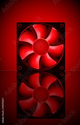 Computer cooler fan.