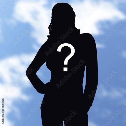 silhouette, inconnu, qui, personne, ombre, interrogation,
