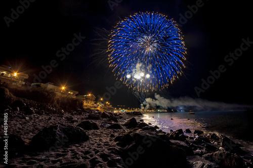 Keuken foto achterwand Schip fireworks