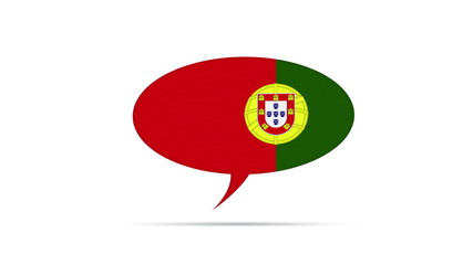 Portugal Flag Speech Bubble