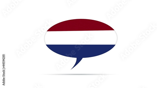Netherlands Flag Speech Bubble