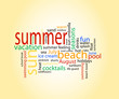 summer tag cloud