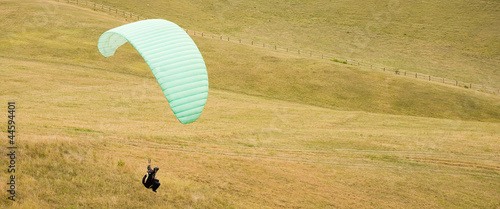 Paragliding fun outdoors in nature.