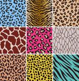 animal seamless skin pattern fabric