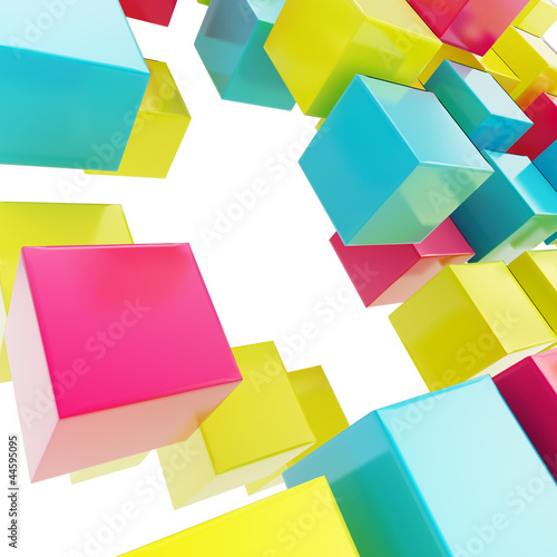 Abstract background made of glossy cubes © Dmitri Stalnuhhin