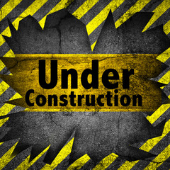 Under construction wall background