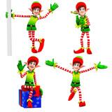 elves dancing around gift poster