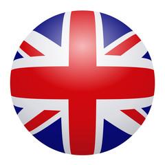Globe british flag