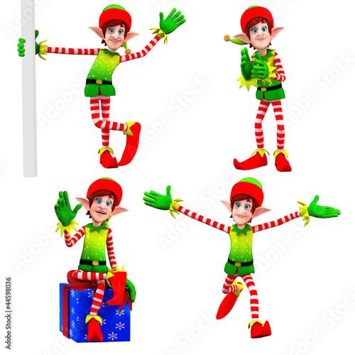 elves dancing around gift