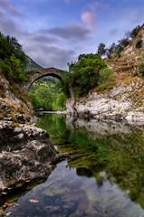 Puente La Vidre sobre el Cares