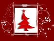 Weihnachten, Karte mit Weihnachtsbaum