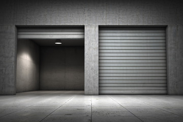 Garage building made ​​of concrete