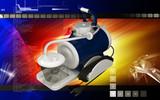 Suction machine aspirator poster