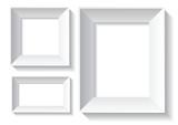 blank white frames poster