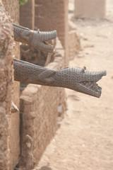 Gutter like crocodile, Mali, Africa.