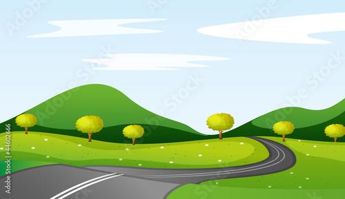 Deurstickers Boerderij landscape