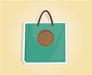 cutout shopping bag