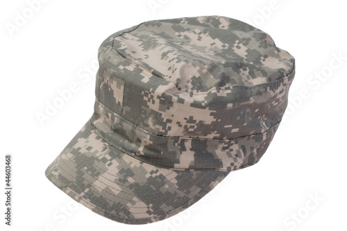 modern us army cap  on a white background