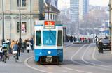 The tram is always on the Schedule, Zurich. poster