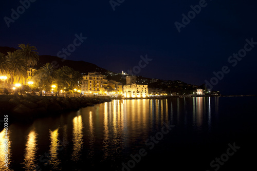 rapallo waterfront at night