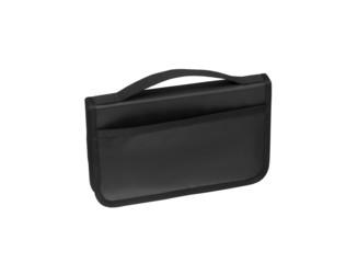 business bag briefcase black and chrome