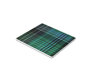 Plaid mouse pad isolated on white
